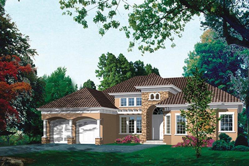 House Plan Design - Mediterranean Exterior - Front Elevation Plan #417-811
