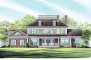Classical Style House Plan - 4 Beds 4 Baths 3618 Sq/Ft Plan #137-328 Exterior - Rear Elevation