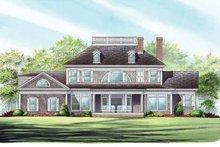 Classical Exterior - Rear Elevation Plan #137-328