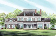 Architectural House Design - Classical Exterior - Rear Elevation Plan #137-328
