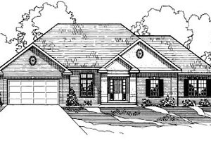 Traditional Exterior - Front Elevation Plan #31-113