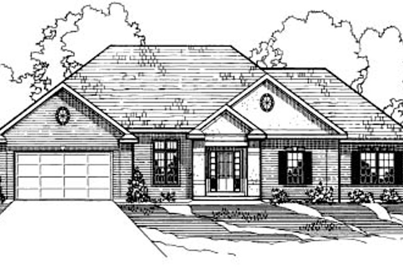Home Plan - Traditional Exterior - Front Elevation Plan #31-113