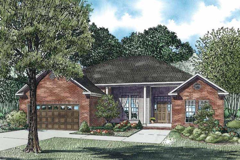 Dream House Plan - European Exterior - Front Elevation Plan #17-3172