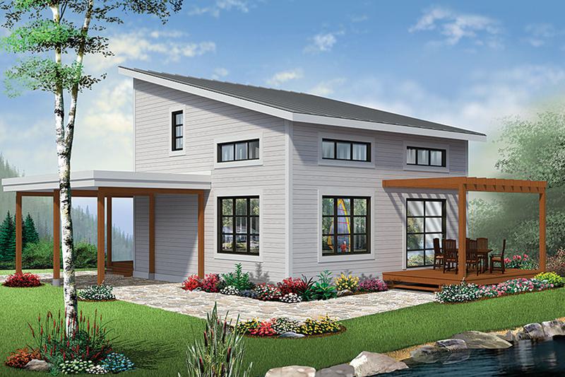 Contemporary Exterior - Rear Elevation Plan #23-2631
