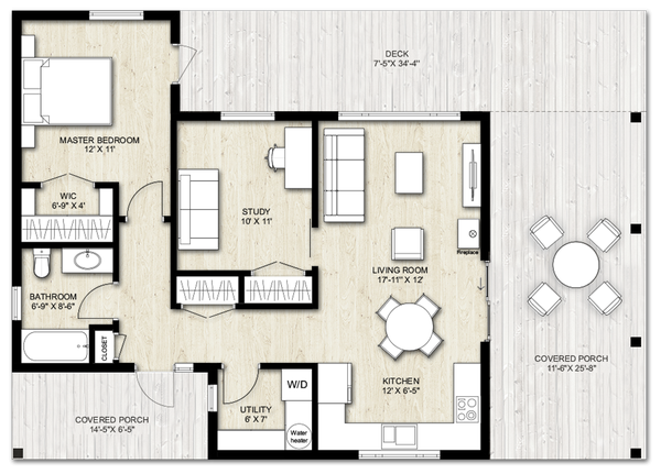Home Plan - Modern Floor Plan - Main Floor Plan #924-3