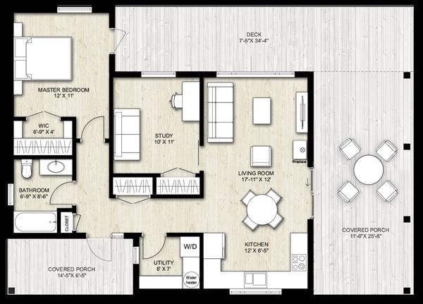 Dream House Plan - Modern Floor Plan - Main Floor Plan #924-3