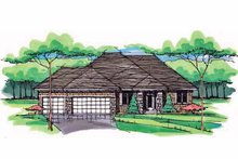 Prairie Exterior - Front Elevation Plan #51-1043