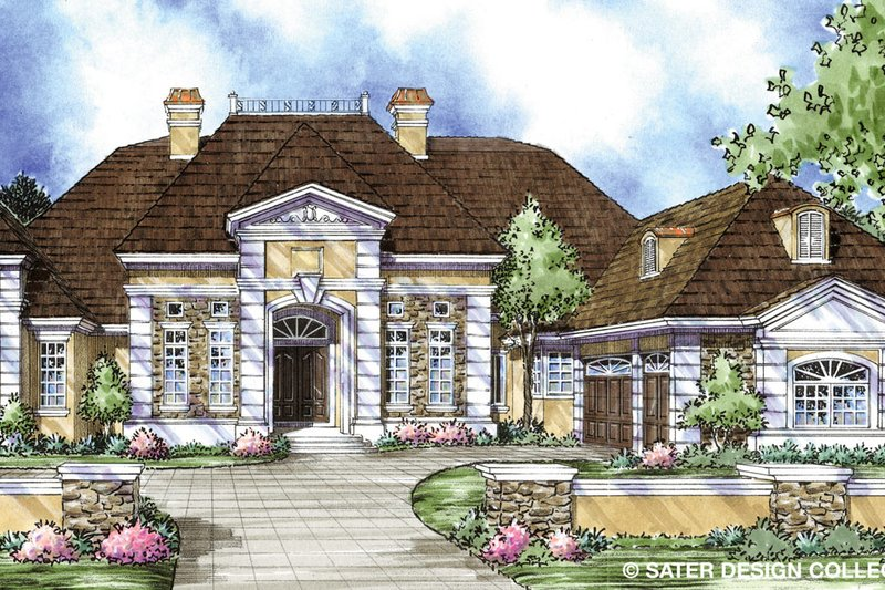 Architectural House Design - Classical Exterior - Front Elevation Plan #930-303