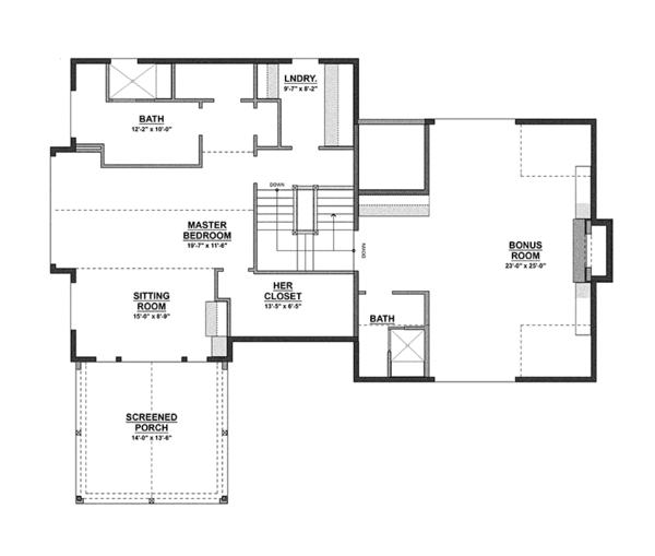 Contemporary Floor Plan - Upper Floor Plan Plan #928-274