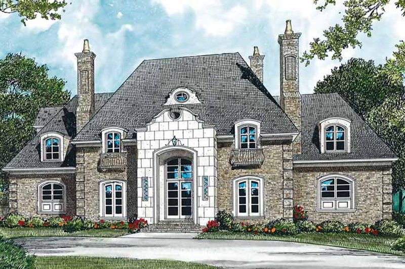 Country Exterior - Front Elevation Plan #453-300 - Houseplans.com