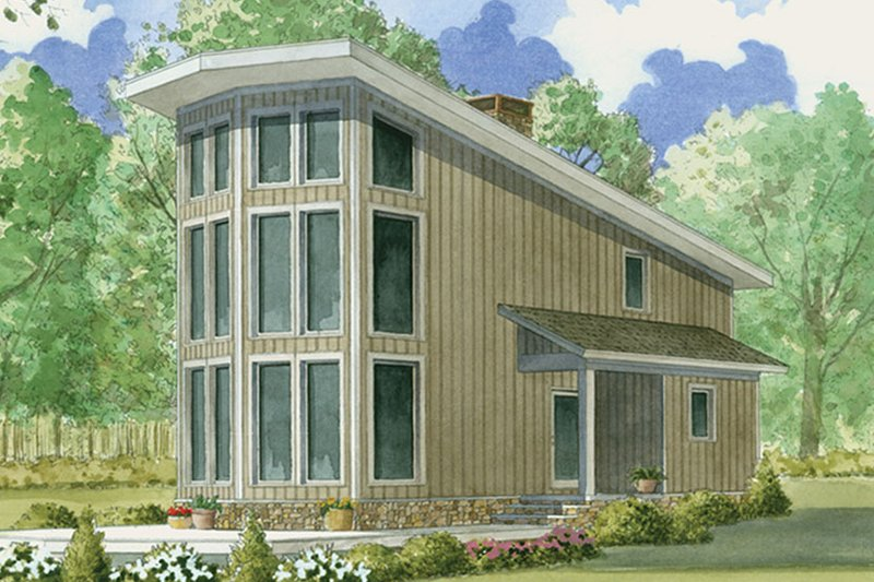 House Plan Design - Contemporary Exterior - Front Elevation Plan #17-3376
