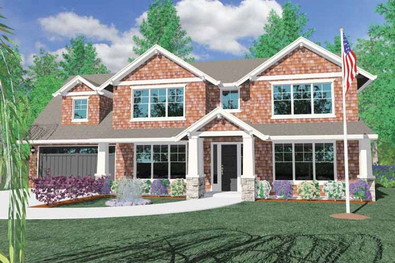 Traditional Exterior - Front Elevation Plan #509-367 - Houseplans.com