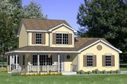 Country Style House Plan - 4 Beds 2.5 Baths 1586 Sq/Ft Plan #116-251 Exterior - Front Elevation