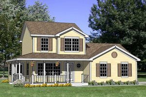Country Exterior - Front Elevation Plan #116-251