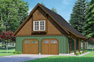 Architectural House Design - Craftsman Exterior - Front Elevation Plan #124-1235
