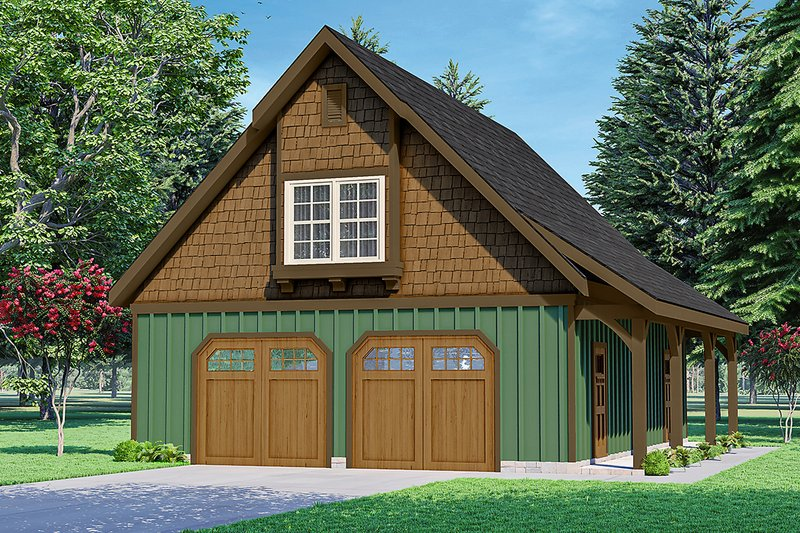 House Plan Design - Craftsman Exterior - Front Elevation Plan #124-1235