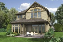 Home Plan - Traditional Exterior - Rear Elevation Plan #48-902