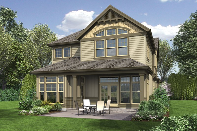 Traditional Exterior - Rear Elevation Plan #48-902 - Houseplans.com