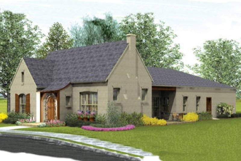 European Exterior - Front Elevation Plan #406-9615 - Houseplans.com