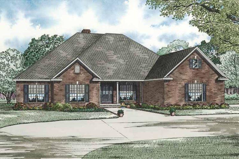 Contemporary Exterior - Front Elevation Plan #17-2765 - Houseplans.com
