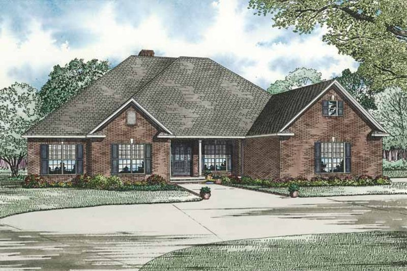 Dream House Plan - Contemporary Exterior - Front Elevation Plan #17-2765
