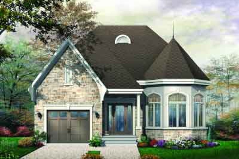 European Exterior - Front Elevation Plan #23-571 - Houseplans.com
