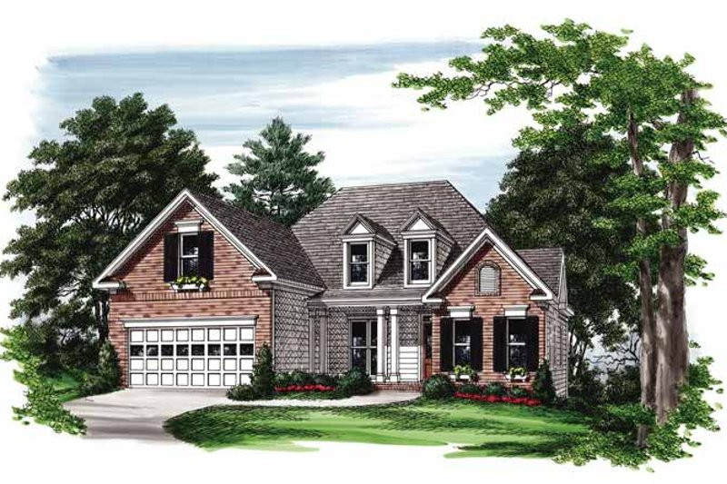 Country Exterior - Front Elevation Plan #927-398