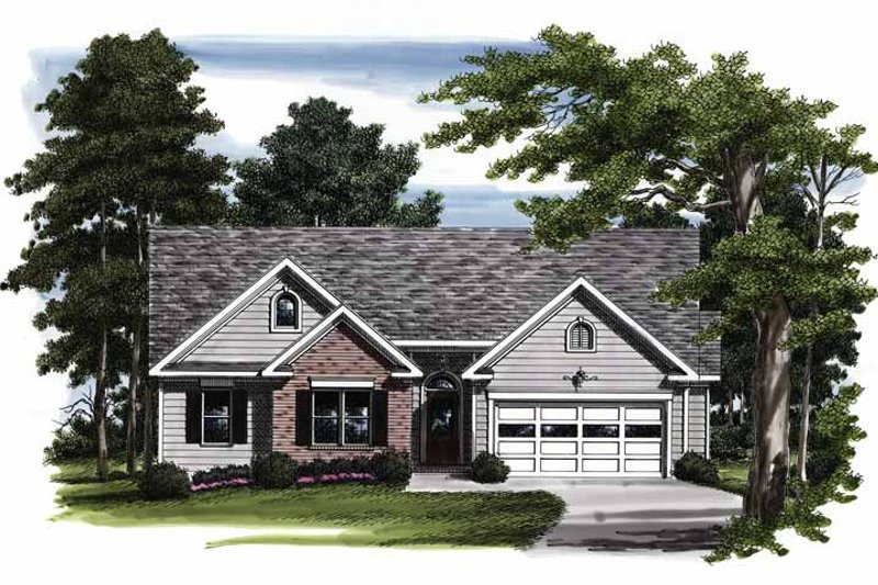 Colonial Exterior - Front Elevation Plan #927-388