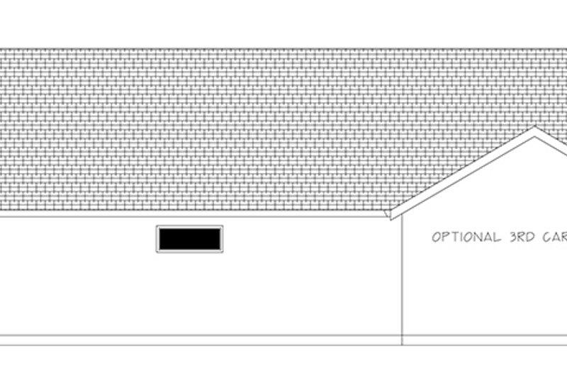 Ranch Exterior - Rear Elevation Plan #943-50 - Houseplans.com
