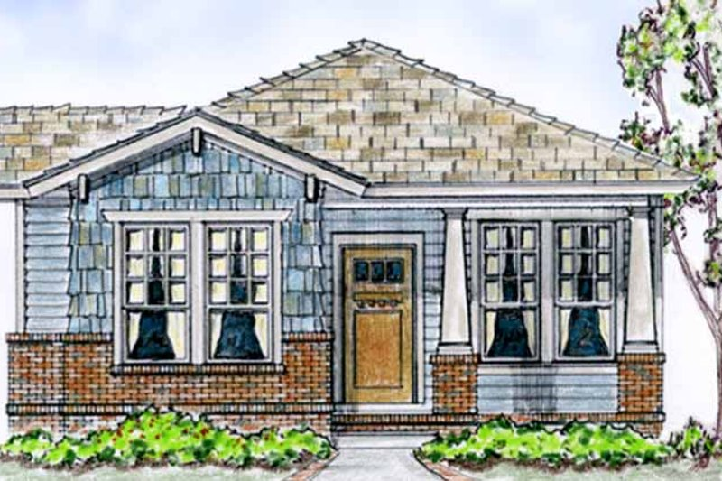 Country Exterior - Front Elevation Plan #410-3560