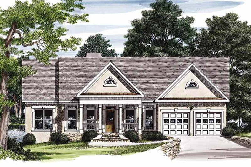 Country Exterior - Front Elevation Plan #927-213 - Houseplans.com