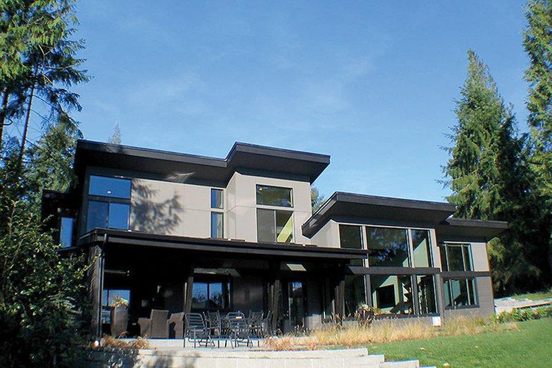 Contemporary Exterior - Rear Elevation Plan #132-563 - Houseplans.com