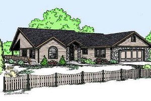 Dream House Plan - Ranch Exterior - Front Elevation Plan #60-574