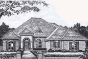 Traditional Style House Plan - 4 Beds 3 Baths 2582 Sq/Ft Plan #310-848 Exterior - Front Elevation