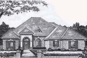 Traditional Exterior - Front Elevation Plan #310-848