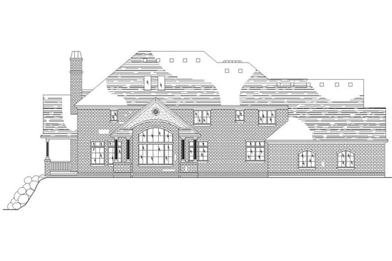 Traditional Exterior - Rear Elevation Plan #945-136 - Houseplans.com