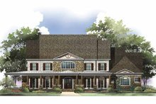 Colonial Exterior - Front Elevation Plan #119-412