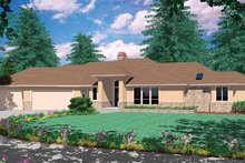 Dream House Plan - Prairie Exterior - Front Elevation Plan #48-889