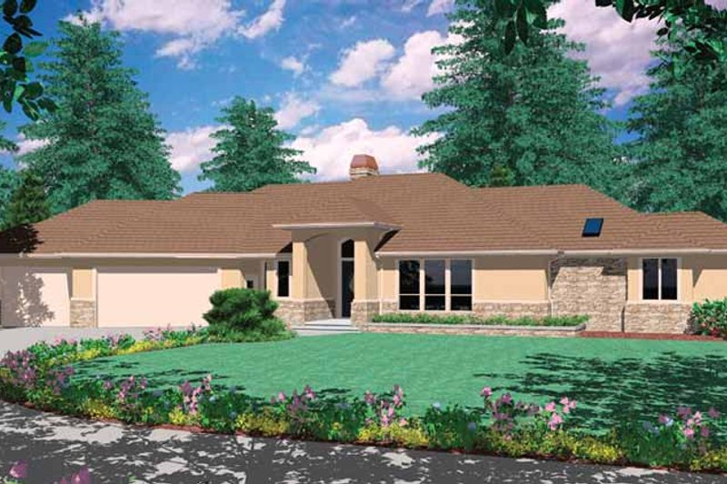 Prairie Exterior - Front Elevation Plan #48-889