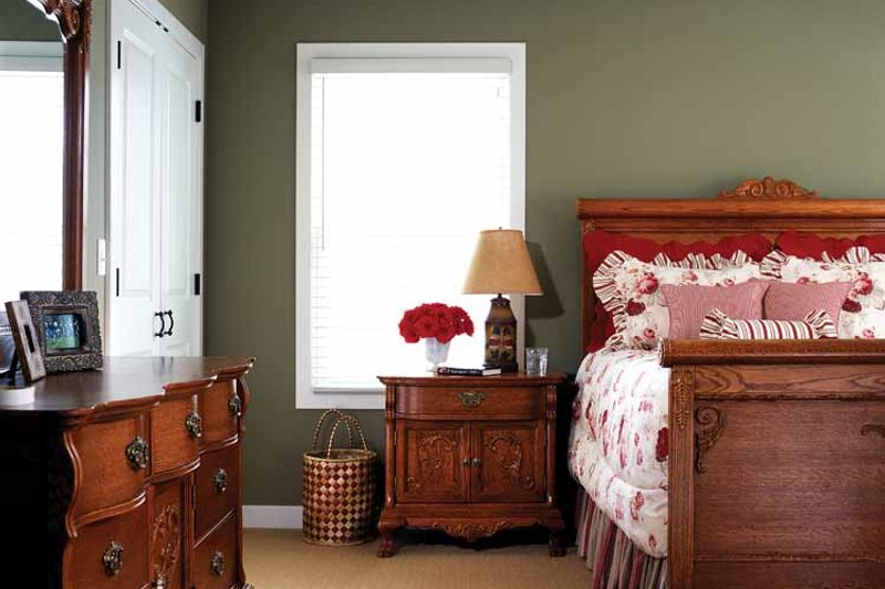 Country Interior - Master Bedroom Plan #928-49 - Houseplans.com