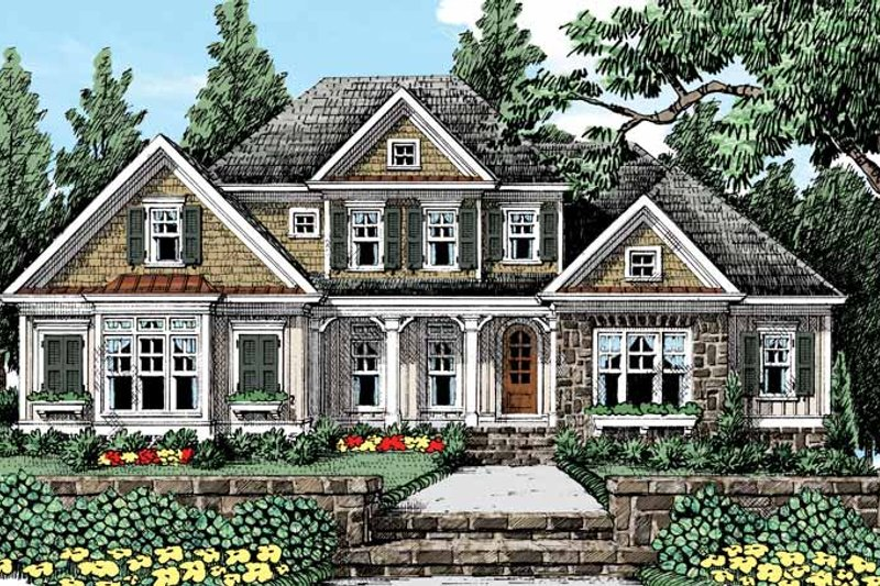 Country Exterior - Front Elevation Plan #927-429
