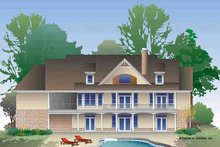 Craftsman Exterior - Rear Elevation Plan #929-974