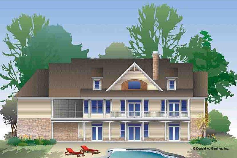 Craftsman Exterior - Rear Elevation Plan #929-974 - Houseplans.com