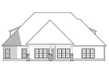 Ranch Exterior - Rear Elevation Plan #923-89