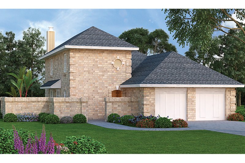 Architectural House Design - Traditional Exterior - Front Elevation Plan #45-565