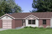 House Plan - 3 Beds 1.5 Baths 1104 Sq/Ft Plan #116-159 Exterior - Front Elevation