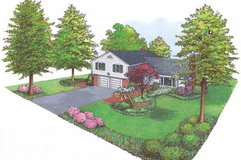 Ranch Exterior - Front Elevation Plan #1040-29 - Houseplans.com