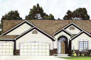 Traditional Exterior - Front Elevation Plan #58-230