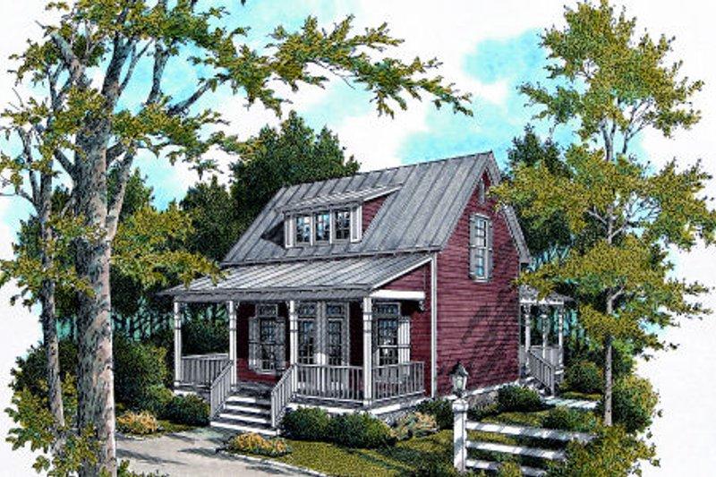 House Plan Design - Cottage Exterior - Front Elevation Plan #45-317