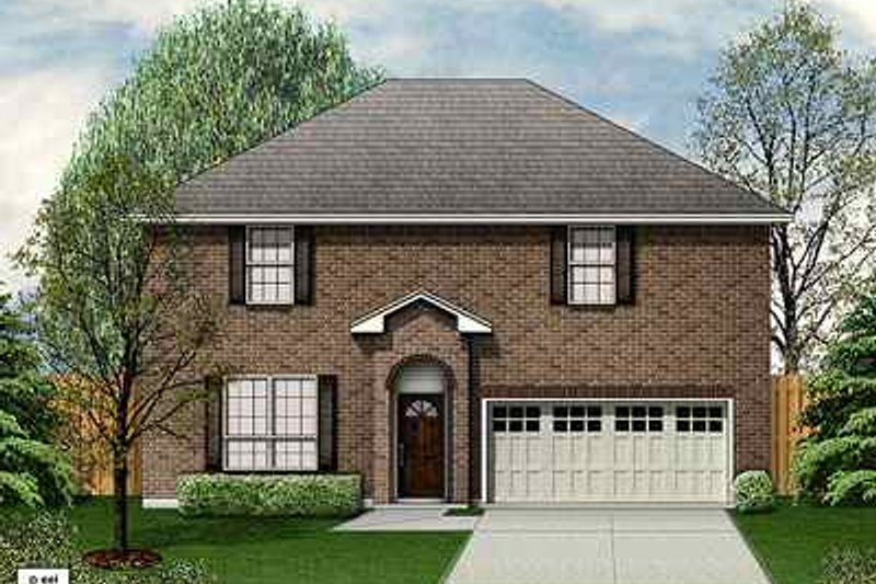 Traditional Exterior - Front Elevation Plan #84-129 - Houseplans.com